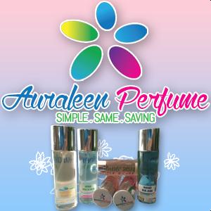 Banner Blog Auraleen Perfume, Portfolio, tempahan edit/design/customize blog, tempahan edit blog murah, tempahan design banner blog murah, Tempahan Design Watermark Murah,