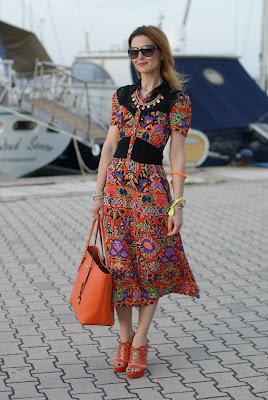 aztec print dress