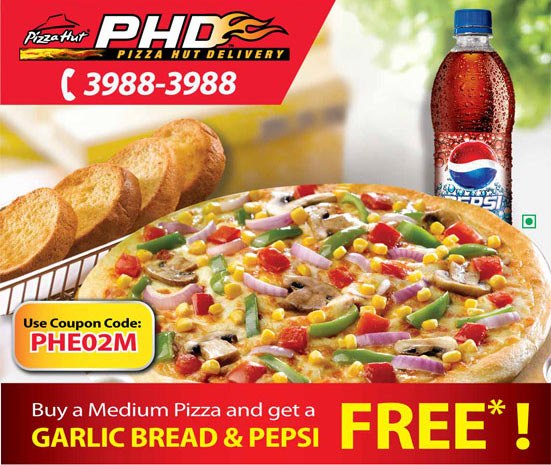 Pizza hut online discount coupons india