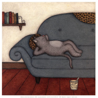 Lounging Cat by Helga Sermat