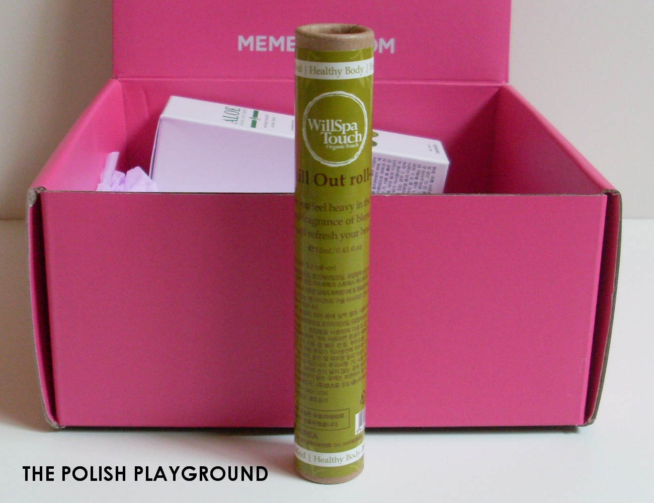 Memebox Special #64 Green Food Cosmetics Unboxing - WillSpa Touch Aroma Therapy Roll-On Oil