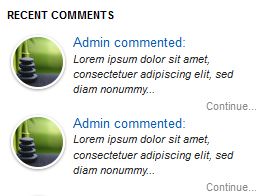 recent comments widget, recent comments, blogger
