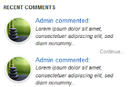 Recent Comments Widget with Hide Author Comments function For Blogger