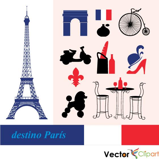 París destino turístico - Vector