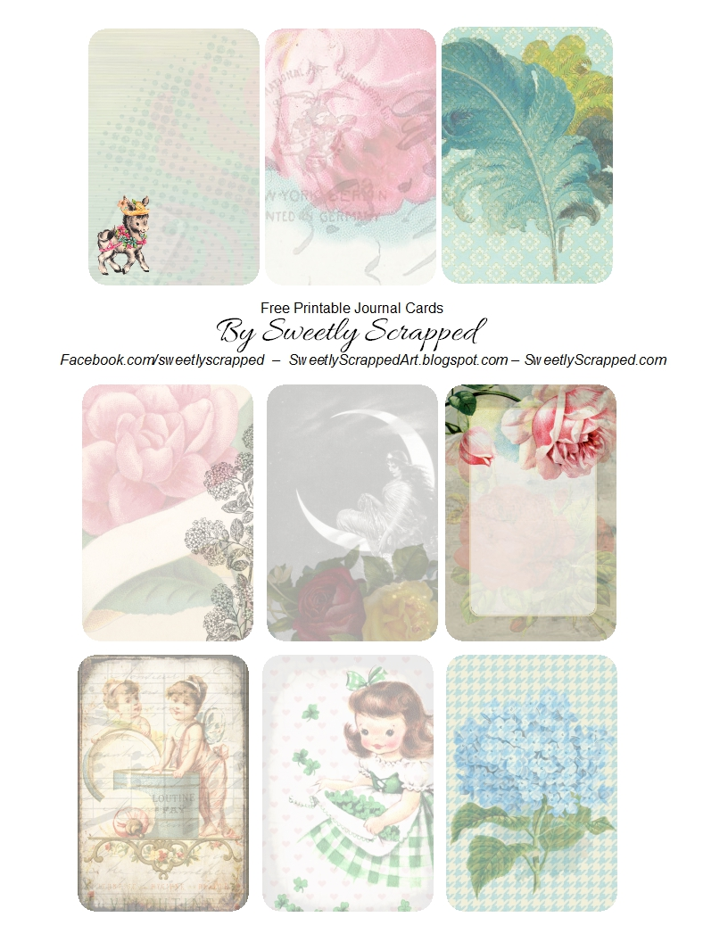 picture regarding Free Printable Journaling Cards named Sweetly Sped: *Cost-free* Printable Magazine Playing cards