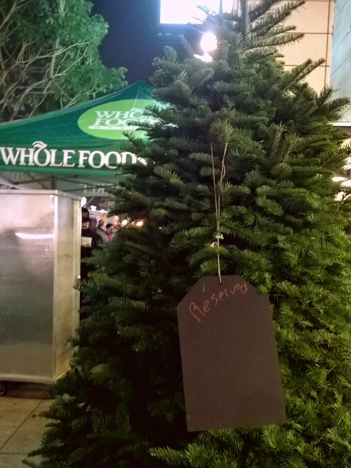 Whole Foods christmas tree