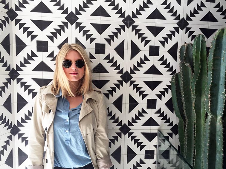 Fashion over reason at Javelina Tex Mex, Mexican tiles, Navajo, Cacti