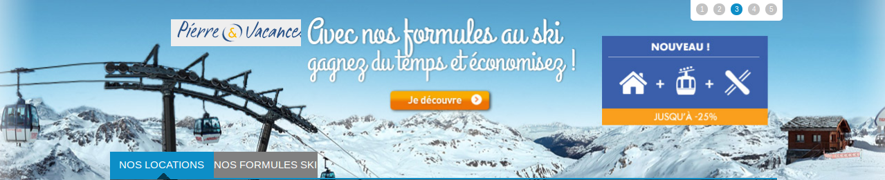 Promo Pierre et vacances - garantie neige