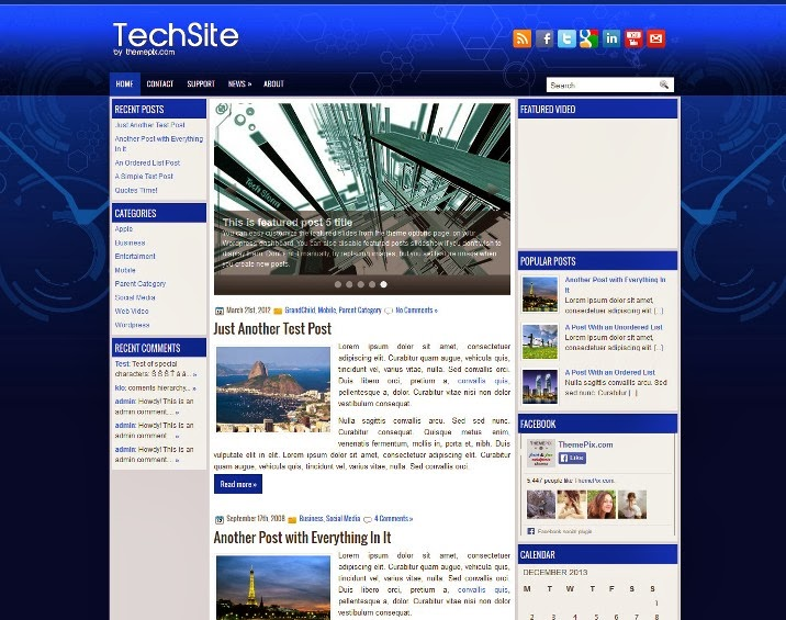 TechSite Free WordPress Theme