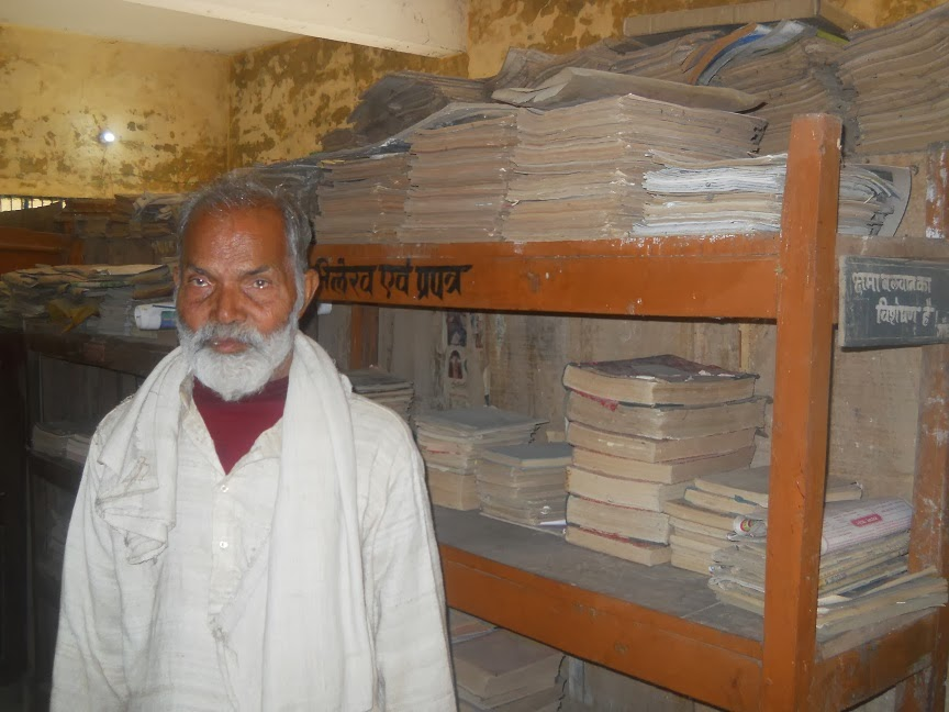 Naryan Muniji in his library