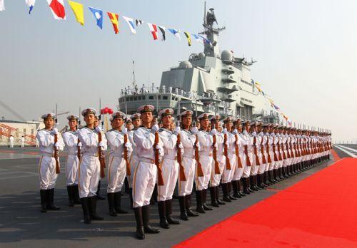 Upacara peresmian kapal induk China Liaoning