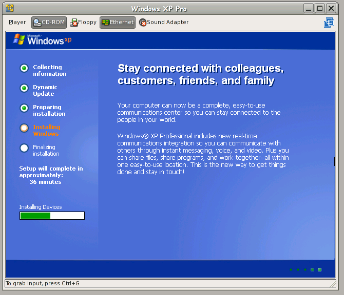 how to set windows xp to hybrenate