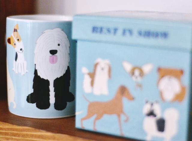 Dog print mug