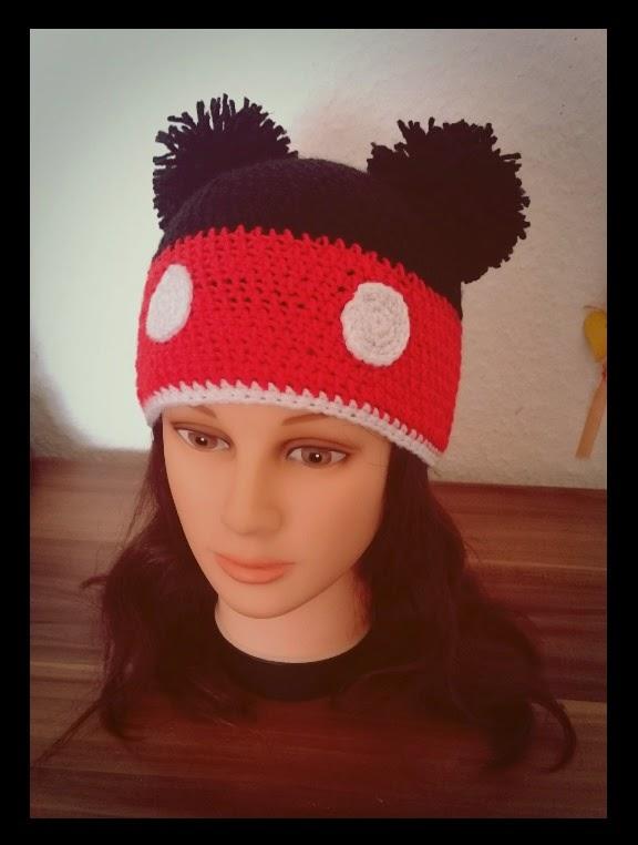 Sarah´s Wollwahn: Micky Maus Mütze