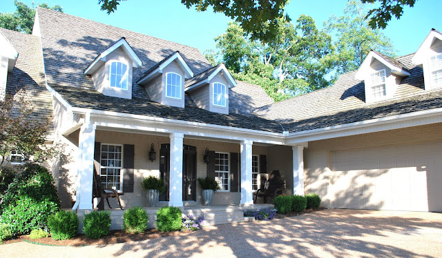 She 39 s a brick house exterior popular home decorating - Tony taupe sherwin williams exterior paint ...