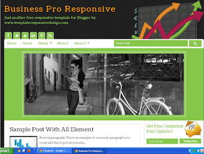 Business Pro Responsive Blogger Template