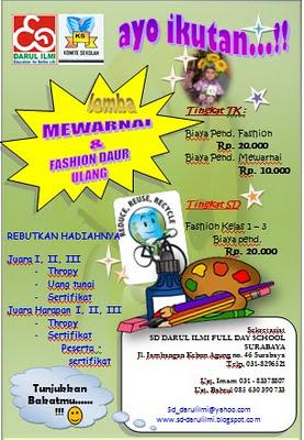 Lomba Mewarnai & Fashion Daur Ulang di SD Darul Ilmi Full Day School ...