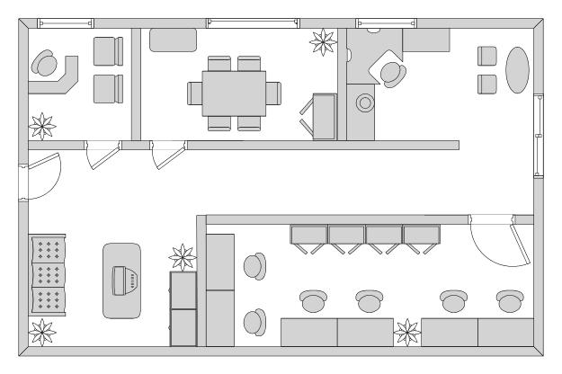 Foundation dezin decor office layout vastu tips for Floor plan sample