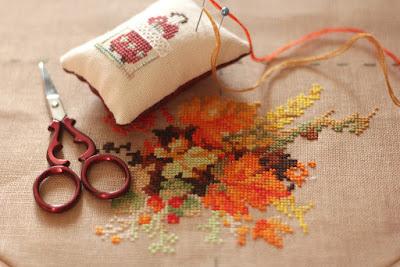Вышивка венок с пшеницей риолис 83