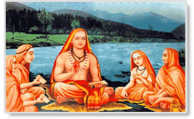 Image : Adi Shankaracharya and His Disciples