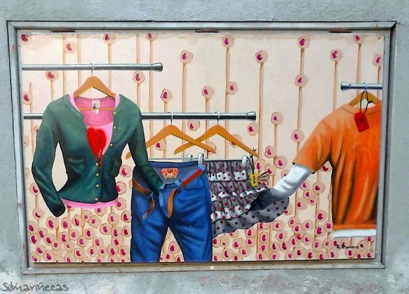 mural de Bergara Koloretan, en el casco histórico en Bergara
