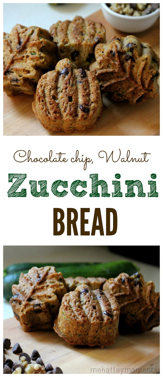 chocolate chip walnut zucchini bread Pinterest graphic