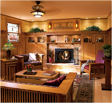 Arts and crafts living room design ideas room design ideas for Living room design styles