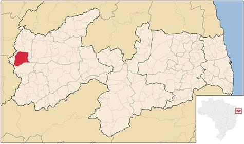 MAPA  DA PARAIBA E NO VERMEDLHO NOSSA  CAJAZEIRAS  PB