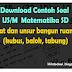Download Soal US Matematika SD 2016 -  Sifat dan unsur bangun ruang (kubus, balok, tabung)