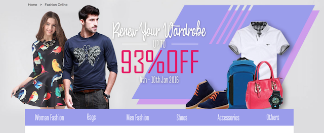 Buy new clothes, up to 93% off!