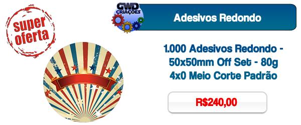 Adesivos Redondo, Grande São Paulo, Santo André, São Bernardo do Campo, São Caetano do Sul, Mauá e Ribeirão Pires.
