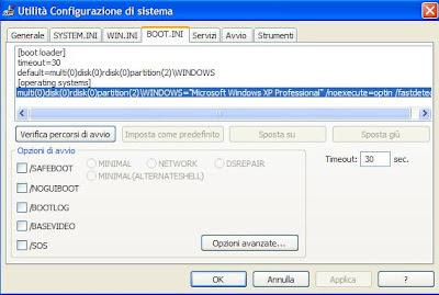 OTTIMIZZARE WINDOWS XP IN AVVIO