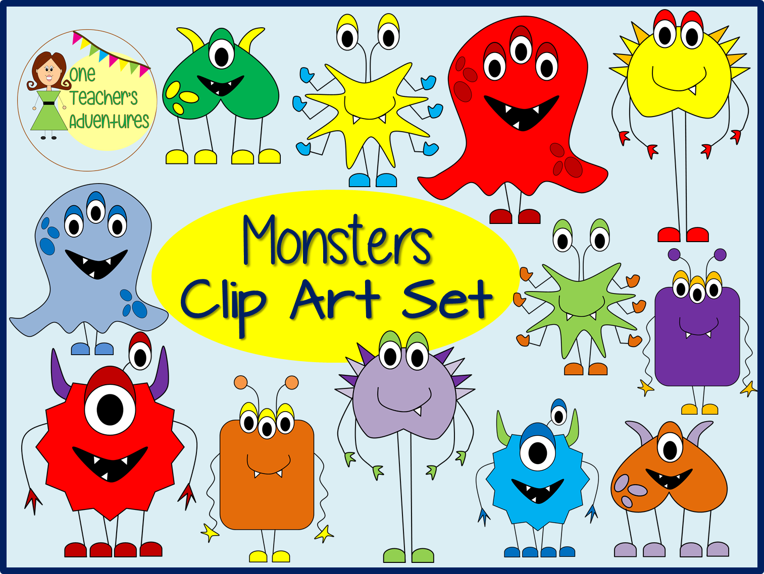 http://www.teacherspayteachers.com/Product/Monsters-Clip-Art-1408671