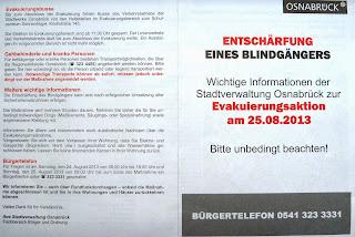 Informationsblatt der Stadt Osnabrück