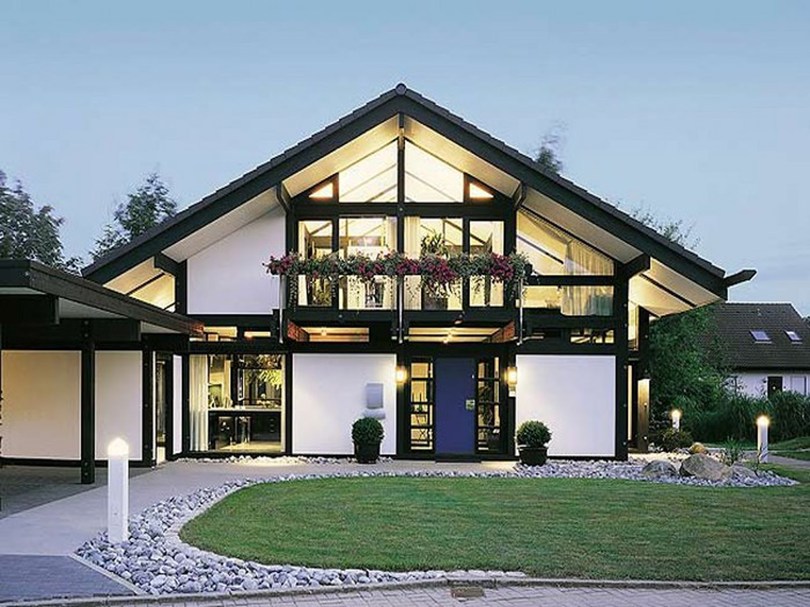 Beautiful latest modern home designs.