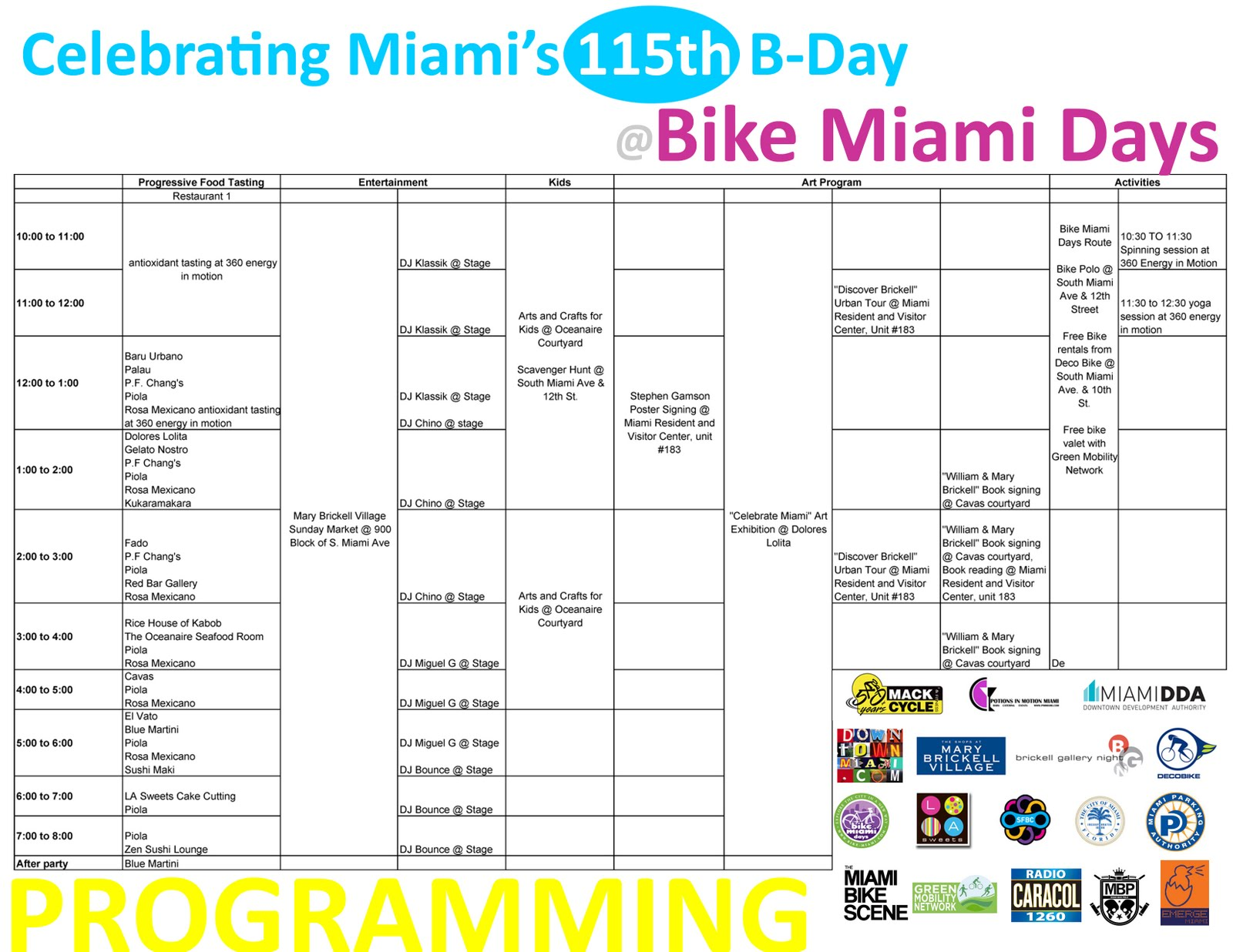 Bike Miami Days Map Join Bike Miami