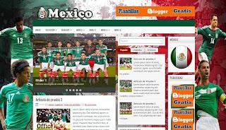 Plantilla blogger de mexico