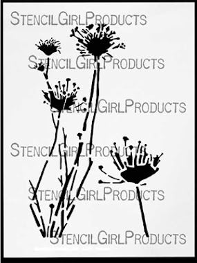 "9"" x 12"" stencil QUEEN ANNE'S LACE"