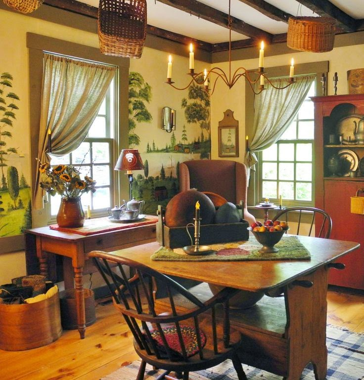 1800 S Colonial Scene On Demand: Decorate With Primitive Colonial Murals