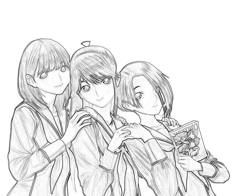 kobayakawa-rinko-friends-coloring-pages