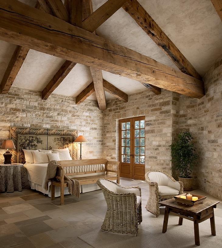 Estilo rustico dormitorios rusticos con techos en pendiente - Techos rusticos ...