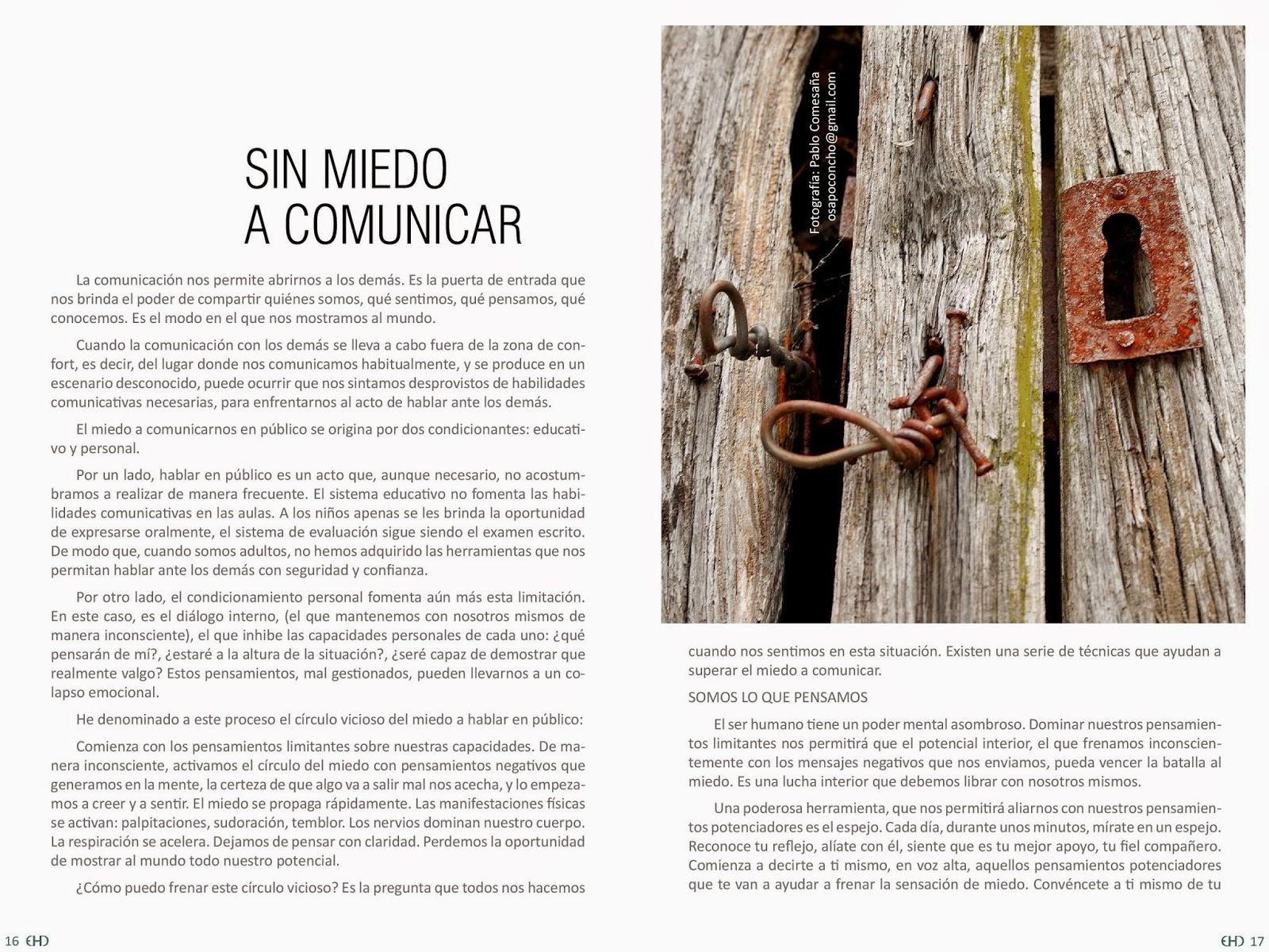 Anna Alonso Pardo, Sin miedo a comunicar, habilidades comunicativas, cómo vencer miedo a comunicar, artículo EHD magazine,