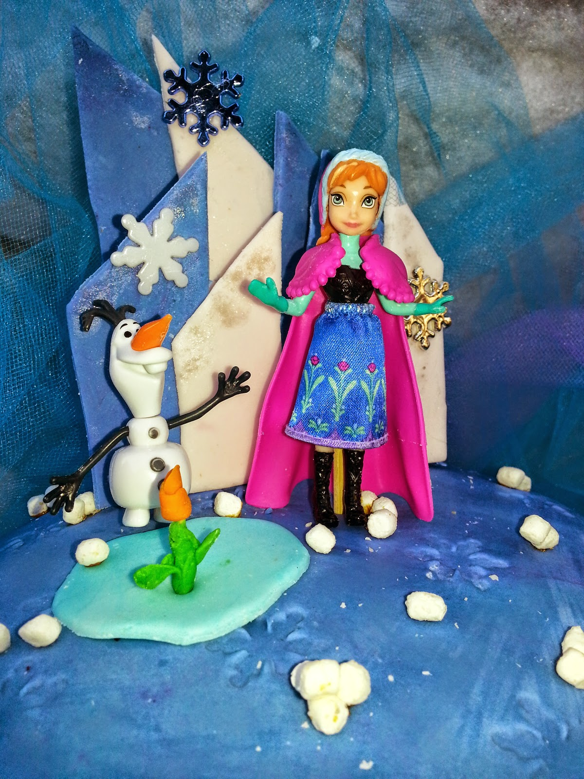 Nana 39 s theme party disney frozen anna and olaf cake - Olaf and anna ...