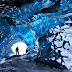 An Ice cave in Vatnajökull ice cap, southern Iceland