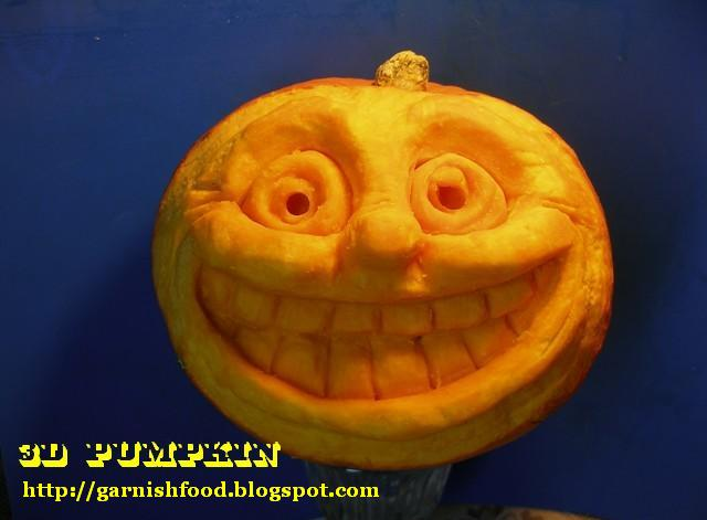 Garnishfoodblog fruit carving arrangements and food for Pumpkin sculpting tutorial