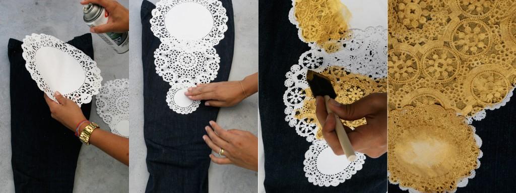 Как украсит своими руками серое платье