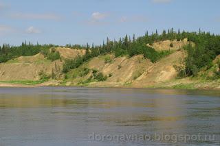 Обрывы среднего течения, река Шапкина