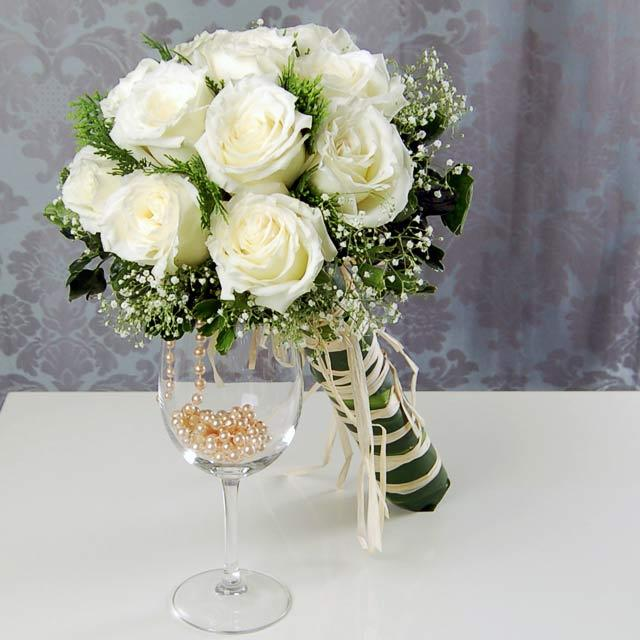 White Wedding Flowers Bridal Bouquet