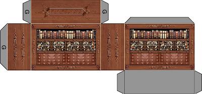 Papermodel dungeon furniture 3d foldup bookshelf