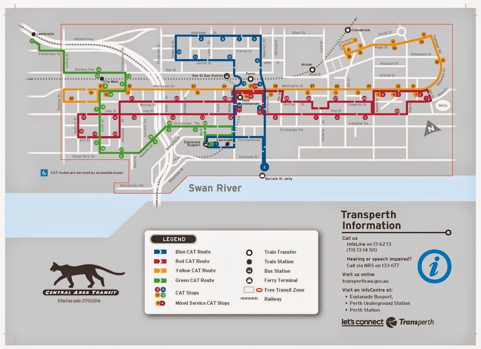 Perth cat map pdf for Bus timetable perth 85
